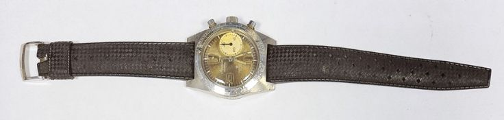 Rare Aquastar Deepstar 10 ATM gent's stainless steel wristwatch, circa 1960's, numbered to reverse