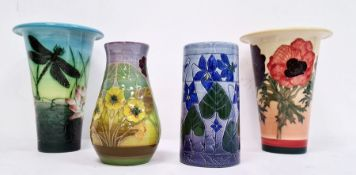 Four assorted Dennis Chinaworks vases in various forms and colours (4)  sizes 14 cms x 2 and