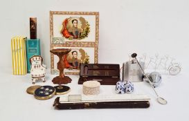 Collection of vintage perfumes in original packaging and seals together with EPNS hip flask, a