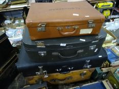 Four assorted suitcases(4)