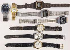 Sindaco gent's stainless steel wristwatch, button winding, a Sekonda lady's gilt metal wristwatch