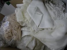 Assorted vintage costume, box of brand new Pashminasin original sealed packing, assorted table