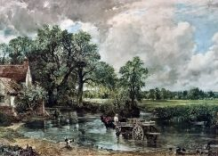 Quantity of various framed prints, books on photography, framed printafter John Constable and