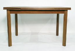 20th century extending dining table, the rectangular top with draw-leaves, on four supports and a
