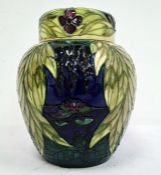 Moorcroft ginger jar decorated with Ophelia, limited edition 76/250, signed with the initials LK,
