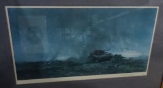 After David Shepherd Limited edition print Tanks, 99/200, signed in pencil lower right