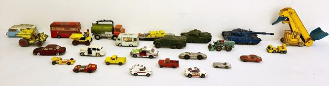Assorted Dinky toys to include Centurion tank 651, Chieftain tank, Johnston road sweeper, Dinky