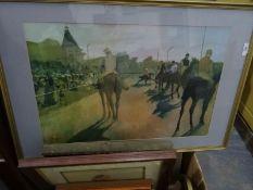 Large quantity of framed printsincluding after Degas (1 box)