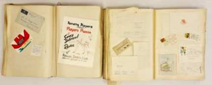 Two various pre and post war scrap books, many invitations, menus etcCondition ReportNo sporting