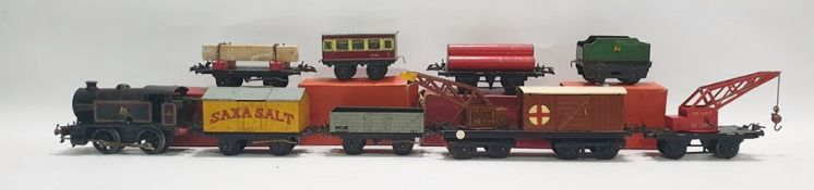 Large collection of Hornby '0' gauge tinplate locomotives and rolling stock, some boxed, to