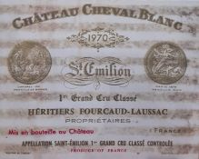 Framed wine labelsmainly Chateau Mouton Rothschild and a box of canvas printsof wine labels (1 box