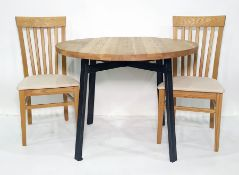 Circular breakfast tableand two chairs (3)