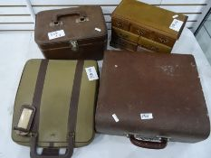 Assorted itemsto include typewriters, leather box, jewellery chest, small quantity oddments,