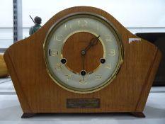 Modern quartz mantel clockwith visible movement,a small Kundo anniversary clockandtwo other