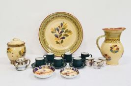 Habitat set of six coffee cans and saucers 'Ripple' pattern, small quantity of Noritake,other