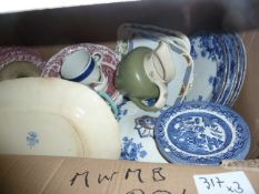 Assorted early 20th century ceramicsincluding Masons Strathmore, a Spode 'Royal Jasmine' dish, a