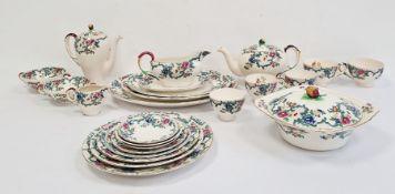 Extensive Royal Cauldon pottery dinner and tea service'Victoria' pattern