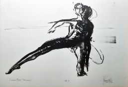 """P Hills (American modern) Artist's Proof """"Summer Man Movement"""", signed in pencil lower right,"""