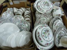 Large quantity of part tea and dinner service'Indian Tree' pattern (113 pieces) (2 boxes) Condition