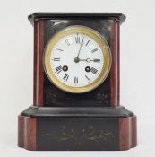 19th century marble mantel clockwith Roman numerals on an enamel dial Condition ReportThe clock has