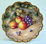 Royal Worcester fruit painted plate, 20th century,printed marks,painted by H. Ayrton with ripening