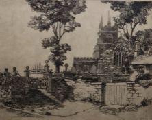 "Various engravingsto include: John Pride ""Hugton Church"", signed to margin lower right, 21cm x 26cm"