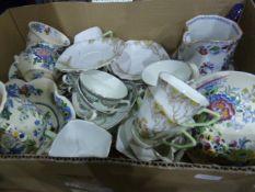 Grindley & Co country style part tea service, Masons 'Strathmore', an Art Deco part tea service, etc