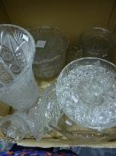 Quantity of glasswareincluding moulded glass, storage jars, wines and assorted ceramics(4 boxes)