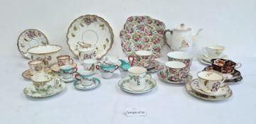 Atlas china chintz porcelain part tea service,a Royal Albert part tea serviceand various others