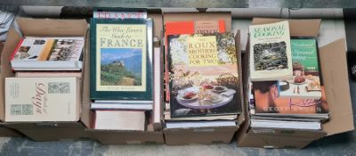 Miscellaneous collection of books on cooking, gardening, travel, etc (4 boxes)
