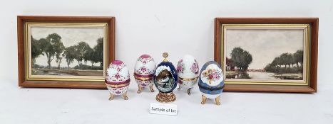 Collection of white metal costume jewellery, a silver-backed hairbrushand a collection of porcelain