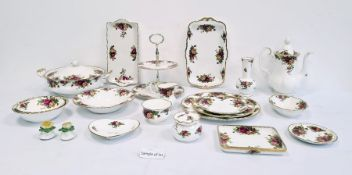 Royal Albert 'Old Country Roses' china part tea, dinner and breakfast serviceto include coffee pot,