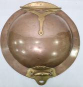 A 19th century Arts and Crafts large copper and brass hinged cover, probably from a country house
