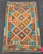 Vegetable dye wool chobi Kelim rug 152 x 100cm