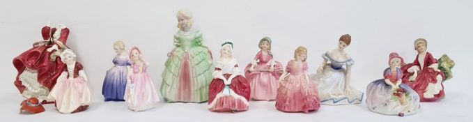 Royal Doulton china figure'Bo Peep' HN1811, another 'Monica', another 'Dinky Do', another 'Rose',