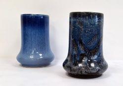 Matched pair of blue glazed Cobridge stoneware vases(2)