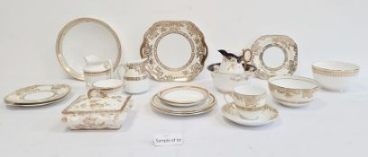 Quantity of Noritake and other gilt bordered tea china