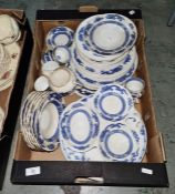 Quantity of Royal Cauldon and Crescent 'Blue Dragon' pattern tableware(1 box)