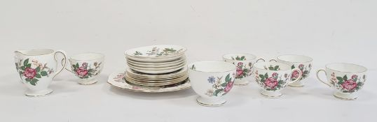 Wedgwood china tea service for six persons, 21 pieces viz:- six cups and saucers and teaplates,