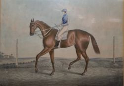 """Colour print """"Poison, the Property of Mr Ford, Winner of the Oak Stakes at Epsom, June 2nd 1843"""","""