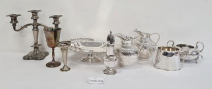 Various items of silver-plate and EPNSto include tankards, jugs, boxes of cutlery, etc (2 boxes)