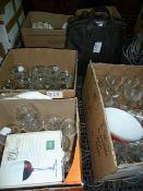 Large quantity of glasswareincluding wines, fruit bowls, various ceramicsandaSmiths Corona