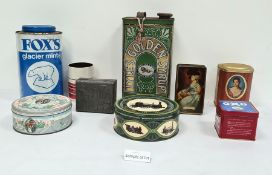 Large collection of various advertising tins to includes Lyles Golden Syrup, OXO, Wills