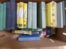 Various Golancz yellow jackets, quantity of Dornford Yates and other detective novels (1 box)
