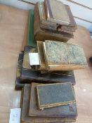Quantity of antiquarian books, mainly in need of restoration, including:  Aesop's Fables,