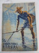 """The Straits Times Annual Singapore 1939"" ($1.50), ink name on first advertising page in top right"