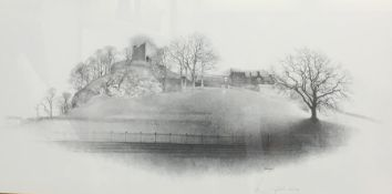 Geldart (20th century) Limited edition print Study of a castle, 102/500, signed in pencil lower