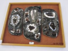 Witold Stefan (possibly Zaczeniuk 1918-1999) triple Ceramic Sculpture, circa 1960s/70s, each
