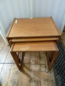 20th century G-Plan teak nest of three rectangular coffee tables
