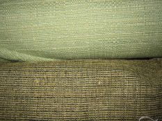 Length of green light tweed furnishing materialand another(2 rolls)